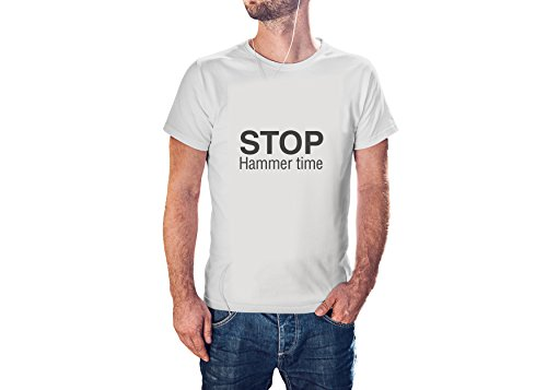 - EGD Stop Hammer Time Quote - Cool Modern T-Shirt - Tees with Vinyl (J595) (Large)