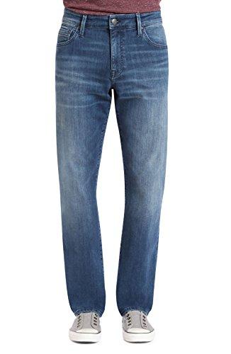 Jeans Mavi In Worn (Mavi Jeans Men's Myles Casual Straight Leg in Mid Tonal Williamsburg Mid Tonal Williamsburg 34 30)