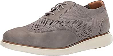 Florsheim Mens Foster Dress Casual Knit Wing Tip Oxford Grey Size: 7