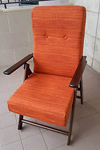 Liberoshopping Poltrona molisana reclinabile 4 posizioni cuscino imbottito comodissima No brand
