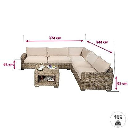 Rotin Design REBAJAS : -45% Salon de ratan Corner marron ...