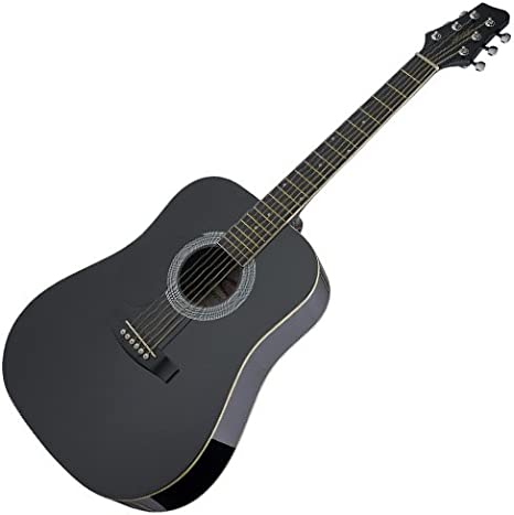 Stagg SW201 LH BK - Guitarra acústica con cuerdas metálicas (para ...