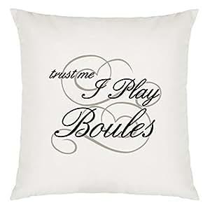 Trust Me I Jugar Boule Diseño almohada grandes con relleno