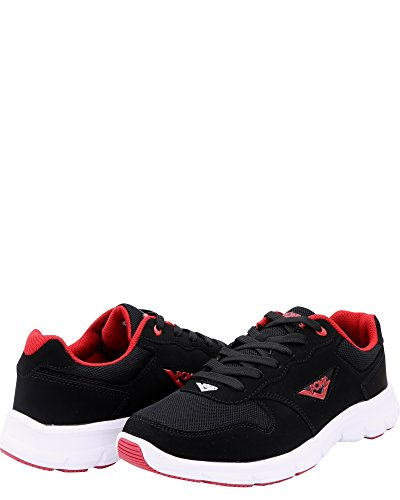 Mens R-20 Mesh Trainning Sneakers, Black/Red, 11