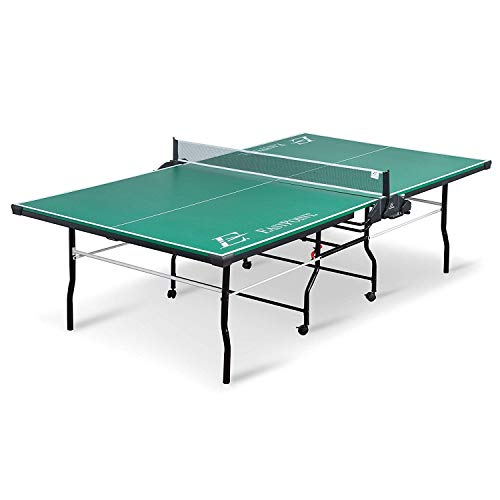 (EastPoint Sports Dominator Table Tennis Table - 18mm - Features Foldable Table with on Center Net and Table Tennis Paddle and Ball Storage)