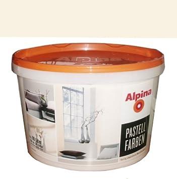 Alpina Pastell Farben, 10 L, Creme matt, fertig abgetönte Wandfarben ...
