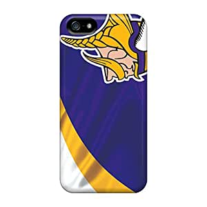 Marycase88 Iphone 5/5s Scratch Protection Phone Case Custom Lifelike Minnesota Vikings Image [pJG10852GDRQ]