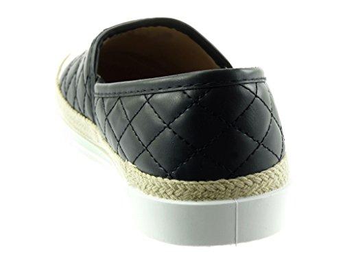 Mode Plat CM Angkorly Espadrille Verni Baskets Corde Chaussure 2 Femme Slip matelassé on Talon 5qqOPwarx