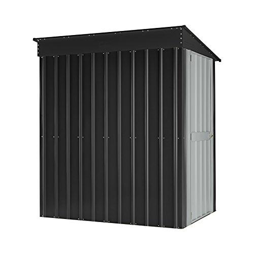 Globel 4x6 Lean-To Steel Storage Shed Slate Grey and Aluminum White by Globel (Image #2)
