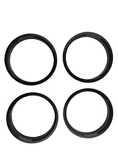 4 Pieces - Hub Centric Rings - 74.1mm OD to 67.1 mm ID - Black Poly Carbon Hub ()