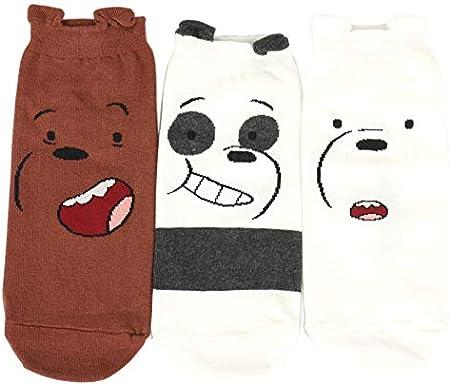 We Bare Bears socks Women's Socks 3 pairs (Grizzly,Panda,Ice Bear) 02 - Made in Korea