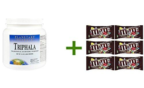 Planetary Herbals Triphala Internal Cleanser Powder, 16 oz,M&M MILK CHOCOLATE 6/1.69oz (Triphala Internal Cleanser)