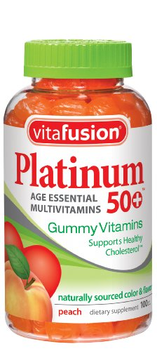 Vitafusion Platinum Gummy Vitamins, 100 Count