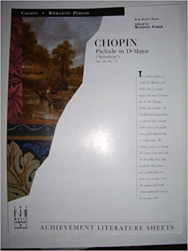 chopin prelude in db major raindrop op28 no 15 for piano solo achievement literature sheets