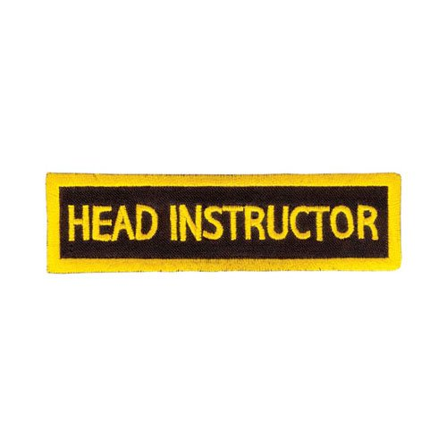 - Tiger Claw Rectangular Instructor Patches - Head Instructor