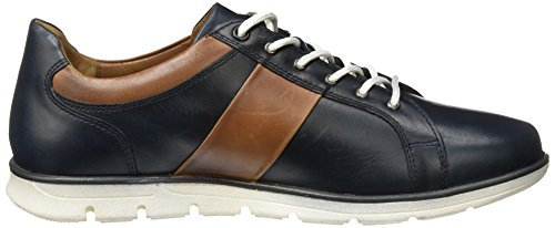 Manz Cremona, Men's Low-Top Multicolour (Dark Blue/Cognac 475)