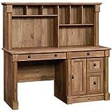 Sauder 420713 Palladia Computer Desk with Hutch, Vintage Oak Finish