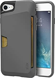 "Silk iPhone 7/8 Wallet Case - VAULT Protective Credit Card Grip Cover - ""Wallet Slayer Vol.1"" - Gunmetal Gray"