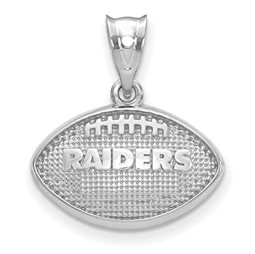 - Oakland Raiders Sterling Silver Football with Logo Pendant