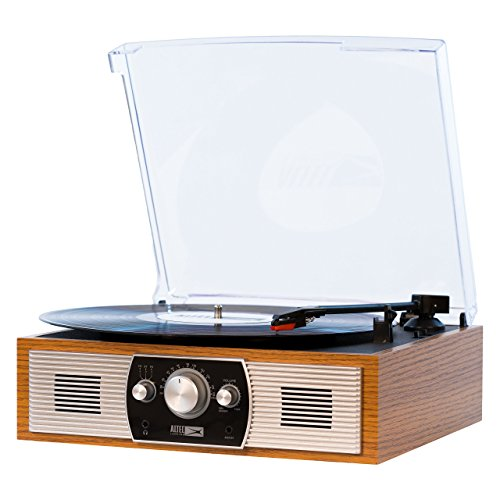 (Altec Lansing Belt-Drive Stereo Turntable with Bluetooth, FM Radio and Built-in Speakers)