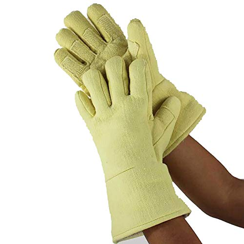 DAN Welding Gloves Heat Resistant Cow Split Leather/Camping/Cooking Welder Fireplace by DAN (Image #6)