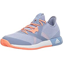adidas Women's Adizero Defiant Bounce w Tennis Shoe, Mystery Ruby/White/Red Night, 6.5 M US