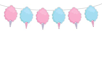 Amazon Com 6 Tall Cotton Candy Garland Cotton Candy Banner