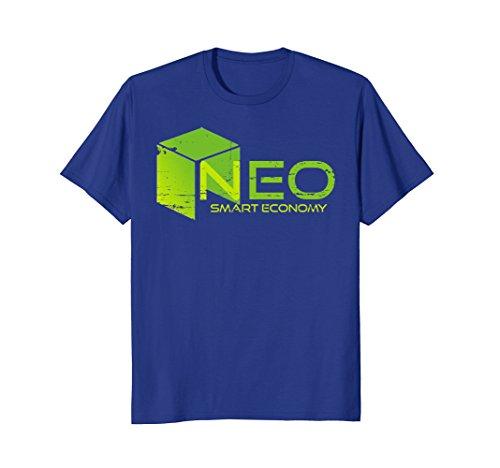Mens NEO coin - Smart Economy Distressed NEO Logo TShirt XL Royal Blue