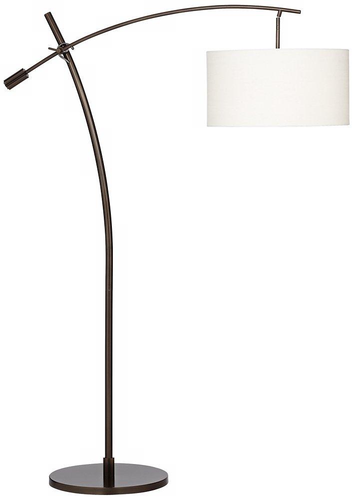 Possini euro bronze finish boom arched floor lamp amazon com