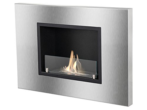 Ignis Quadra Recessed Ventless Ethanol Fireplace with (Best Ethanol Fireplace With Glasses)