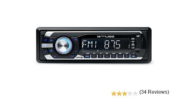 Muse M-098 MR 40W Negro, Plata receptor multimedia para coche: Amazon.es: Electrónica