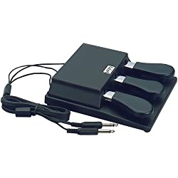 Studiologic Triple Piano-Style Sustain Pedal with Mono and Stereo Connector for Keyboards by American Music and Sound