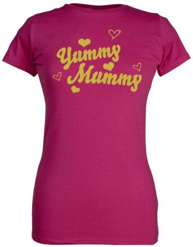 (SR - Yummy Mummy Organic Womens T-Shirt - Mothers T Shirt - Mums T-Shirt - Funny Mum's T Shirt, Pink, X-Large (14-16))