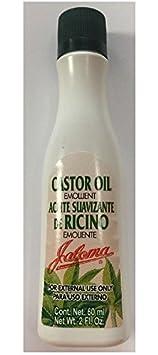 Jaloma Castor Oil Emollient Aceite Suavizante De Ricino Emoliente 2oz by Jaloma: Amazon.es: Belleza