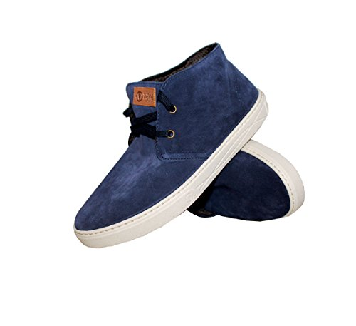 NATURAL WORLD-zapatillas deportivas para hombre, diseño de Safari Suede-últimos números - 820-877-marino