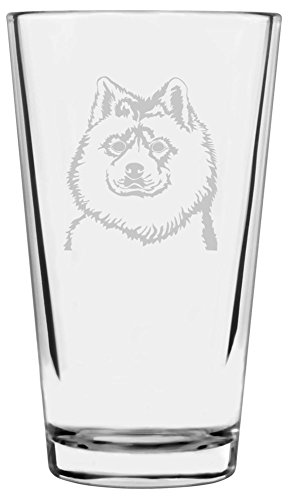 Samoyed Dog Themed Etched All Purpose 16oz Libbey Pint Glass