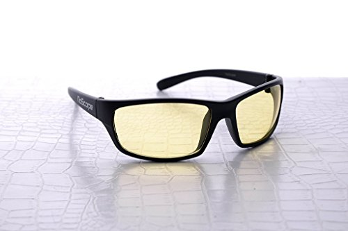 NoScope Minotaur Yellow Lens Video Game Gaming TV & Computer Glasses | Anti Blue Rays & Glare Free | Eye Protection | Reduce Eye Strain and Fatigue | PS4 & - Videogame Glasses