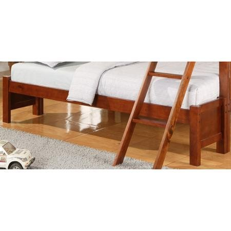 Elise Twin Over Full Bunk Bed, Mahogany (Conversion Kit Only), Mahogany - Bunk Bed Top Only