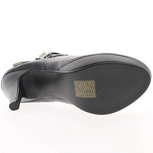 Black Heel Stiefel 11,5 cm-Leder-Plattform