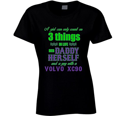 volvo-xc90-girl-can-only-count-on-3-things-t-shirt-m-black
