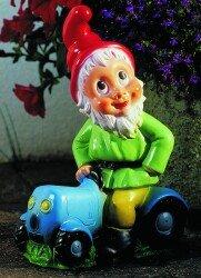 Nain sur le tracteur, un tracteur, 32 pouces, nain de jardin, en ...