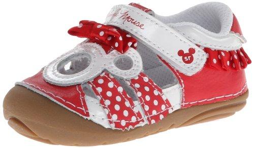 Stride Rite SRT SM Disney Minnie Sandal (Infant/Toddler),Red/White,3 M US Infant