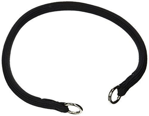 (Coastal Pet Products DCP330218BLK Round Choke Collar for Dogs, 3/8 by 18-Inch, Black)