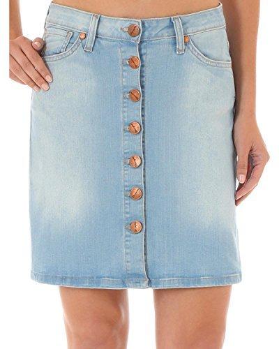 Wrangler Women's Button-Front Denim Skirt Indigo 5