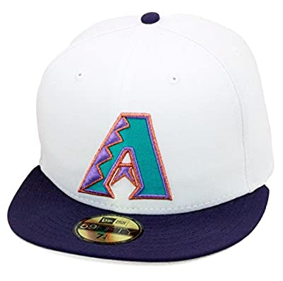 New Era 59fifty Arizona Diamondbacks Fitted Hat White/Purple/1998 Inaugural