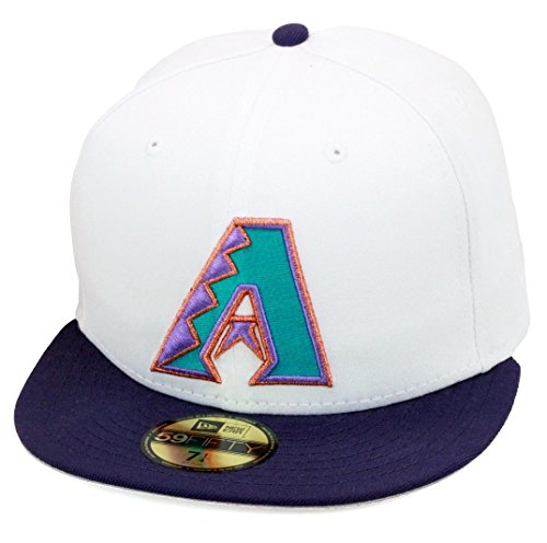 New Era 59fifty Arizona Diamondbacks Fitted Hat White Purple 1998 ... e75dafe59a8