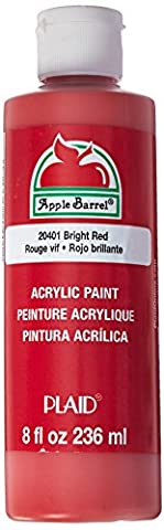 Apple Barrel Acrylic Paint in Assorted Colors (8 Ounce), J20401 Bright Red (Paint & Wall Covering Supplies)