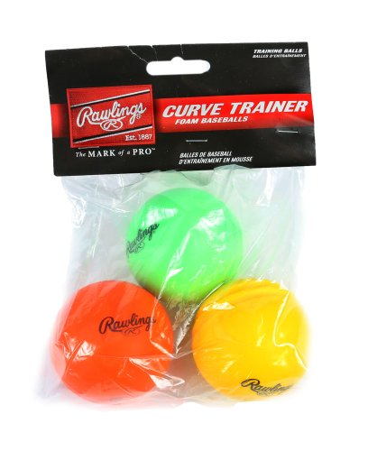 Rawlings Official MLB Curve Training Baseballs 3-Pack - Curve Training Baseball
