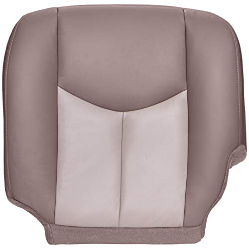 Side Bottom Replacement Seat Cover - Medium Neutral and Shale (Two Tone Tan) Leather (Compatible with 2003-2006 GMC Yukon Denali, Yukon Denali XL, and Sierra Denali) ()