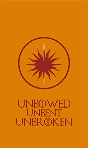 Amazon.com: Game Of Thrones Bandera | Martell Banner Unbowed ...